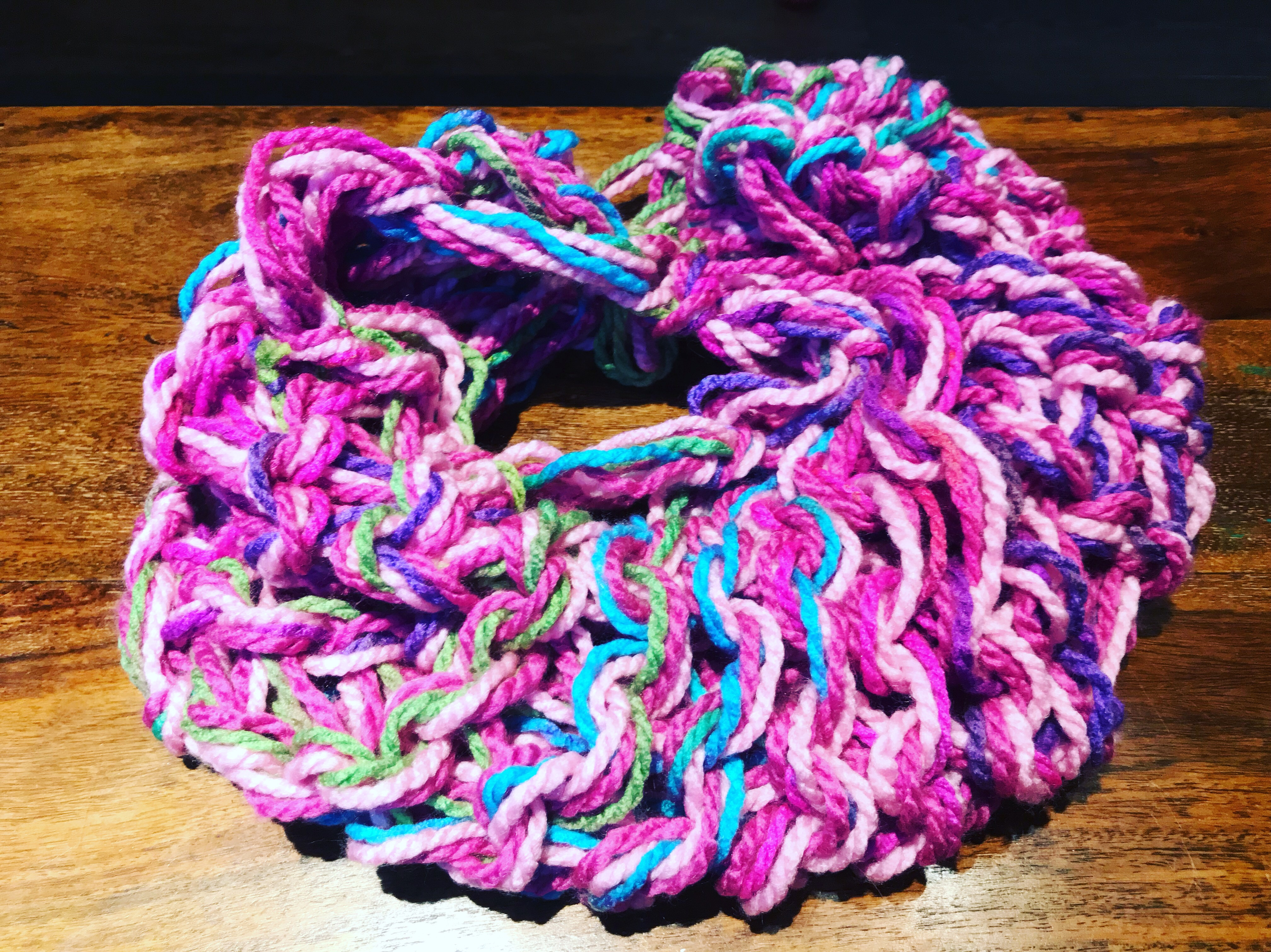 Arm-Knit Scarf Class at Michael\'s in Timonium – Fortunate Femme